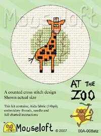 Giraffe Cross Stitch Kit by Mouse Loft