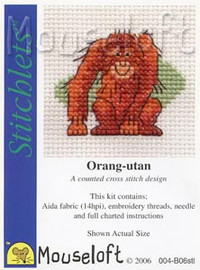 Orang-utan Cross Stitch Kit by Mouse Loft