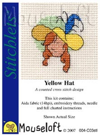 Yellow Hat Cross Stitch Kit by Mouse Loft