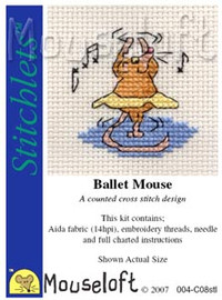 Ballet Mouse Cross Stitch Kit by Mouse Loft