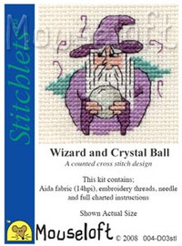Wizard and Crystal Ball Cross Stitch Kit by Mouse Loft