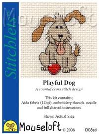 Playful Dog Cross Stitch Kit by Mouse Loft