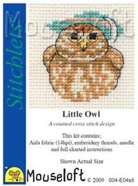 Little Owl Cross Stitch Kit by Mouse Loft