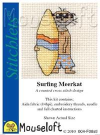 Surfing Meerkat Cross Stitch Kit by Mouse Loft