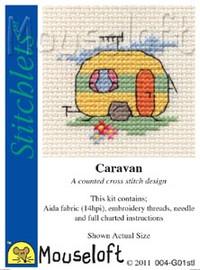 Caravan Cross Stitch Kit by Mouse Loft