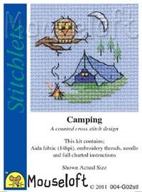 Camping Cross Stitch Kit by Mouse Loft