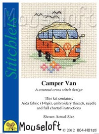 Camper Van Cross Stitch Kit by Mouse Loft