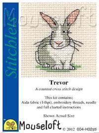 Trevor The Rabbit Cross Stitch Kit by Mouse Loft