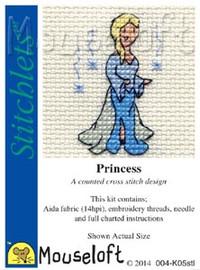 Princess Cross Stitch Kit by Mouse Loft