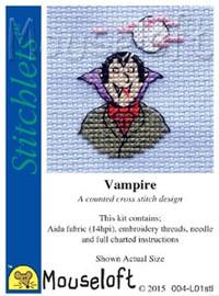 Vampire Cross Stitch Kit by Mouse Loft