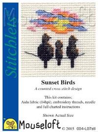 Sunset Birds Cross Stitch Kit by Mouse Loft