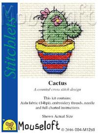 Cactus Cross Stitch Kit by Mouse Loft
