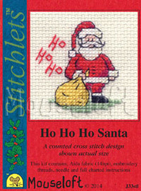 Ho Ho Ho Santa Cross Stitch Kit by Mouse Loft