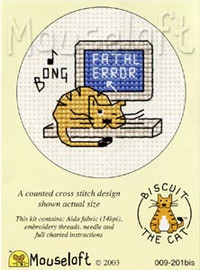 Fatal Error Cross Stitch Kit by Mouse Loft