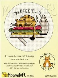 Perfect! (warm ironing) Cross Stitch Kit by Mouse Loft