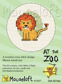 Lion Cross Stitch Kit by Mouse Loft