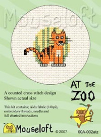 Tiger Cross Stitch Kit by Mouse Loft