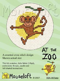 Monkey Cross Stitch Kit by Mouse Loft