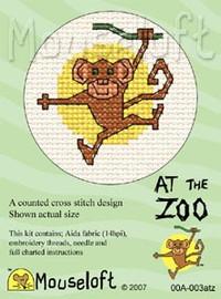 Monkey Cross Stitch Kit by Mouse Loft
