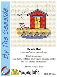 Beach Hut Cross Stitch Kit by Mouse Loft
