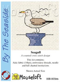Seagull Cross Stitch Kit by Mouse Loft