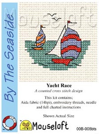 Yacht Race Cross Stitch Kit by Mouse Loft