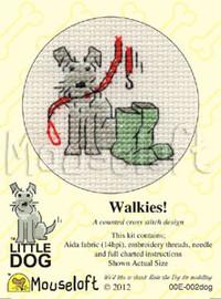 Walkies! Cross Stitch Kit by Mouse Loft
