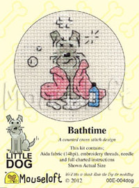 Bathtime Cross Stitch Kit by Mouse Loft
