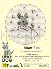 Snow Fun Cross Stitch Kit by Mouse Loft