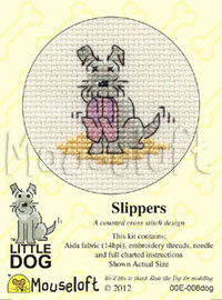 Slippers Cross Stitch Kit by Mouse Loft