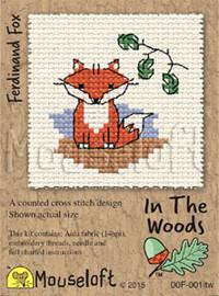 Ferdinand Fox Cross Stitch Kit by Mouse Loft
