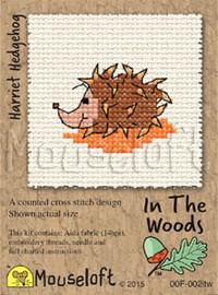 Harriet Hedgehog Cross Stitch Kit by Mouse Loft