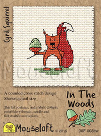 Cyril Squirrel Cross Stitch Kit by Mouse Loft