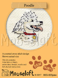 Poodle Cross Stitch Kit by Mouse Loft