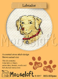 Labrador Cross Stitch Kit by Mouse Loft