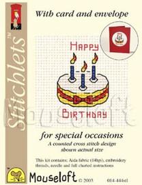 Birthday Cake Cross Stitch Kit by Mouse Loft