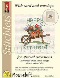 Happy Retirement Cross Stitch Kit by Mouse Loft