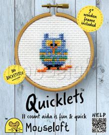 Blue Owl Cross Stitch Kit by Mouse Loft