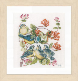 Counted Cross Stitch Kit: Chickadees (Evenweave)