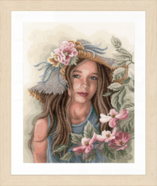 Counted Cross Stitch Kit: Little Girl with Hat By Lanarte