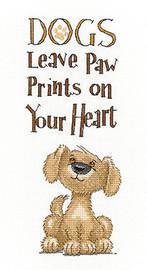 Paw Prints Cross Stitch Kit By Heritage