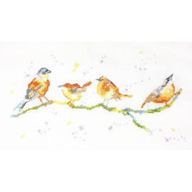 Birds of a Feather Cross Stitch Kit by Charlotte Rennie