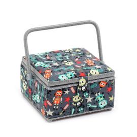 Square: Bot Boy  Medium Square Sewing Box By Hobby Gift