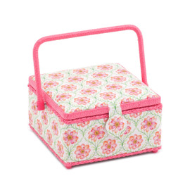 Blossoming Trellis  Medium Square Sewing Box By Hobby Gift