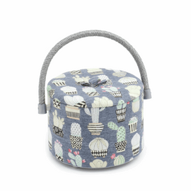 Cactus Hoedown  Round Sewing Tub By Hobby Gift