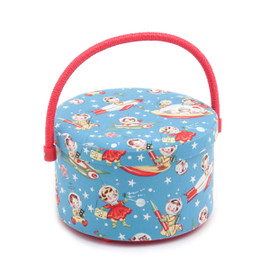 Retro Rocket Rascals  Round Sewing Box By Hobby Gift