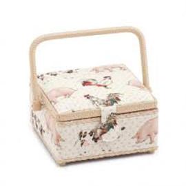 Farmyard  Small Sewing Box By Hobby Gift