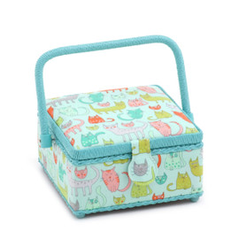 Crazy Cats  Small Sewing Box By Hobby Gift