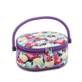 Spring Flowers  Small Oval Sewing Box By Hobby Gift