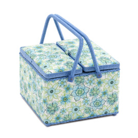 Lydia  Square Twin Lid Sewing Box By Hobby Gift